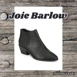 Joie Barlow Snake Embossed Black Leather Bootie